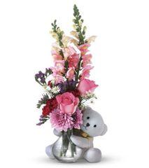 Flowers w/ Bear