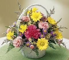Daisy Carnation Basket