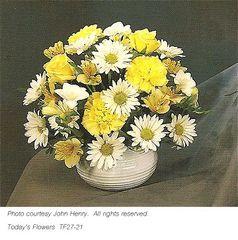 """Carnations & daisies "" Wedding centerpiece"