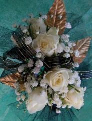 16-WBG Wrist Corsage (Choose Color)