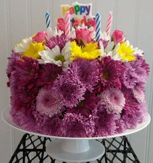 Admirable Birthday Cake Arrangement Emilys Florist Free Delivery On Personalised Birthday Cards Beptaeletsinfo