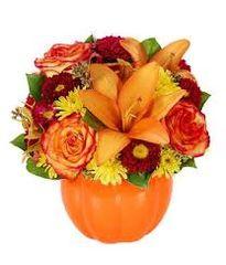 Ceramic Pumpkin Arrangement