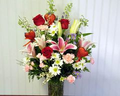 Large Mixed flowers in vase