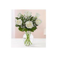 1/2 Dozen White Roses in vase