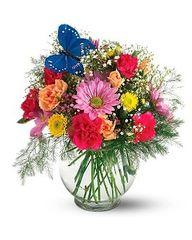 Butterfly Vase Arrangement
