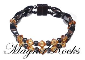 Unity Jewelry Collection Topaz Crystal Hematite Magnetic Bracelet.