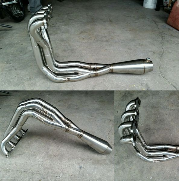 TRI-Y RACE HEADER FOR P10/P11 B13/B14/B15 NISSAN SENTRA SE-R SR20VE with MEGAPHONE