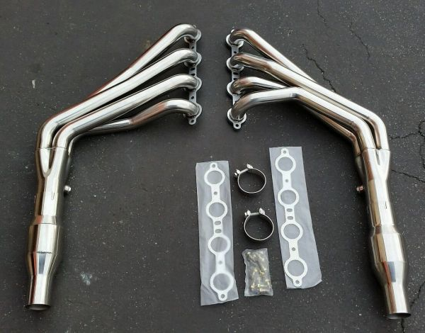 LONG TUBE HEADER FOR 10-15 CHEVY CAMARO SS LS3 6.2 EXHAUST/MANIFOLD + RESONATORS