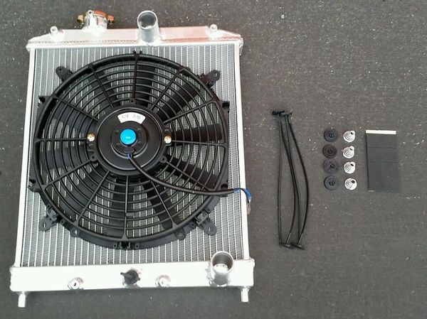 92-00 HONDA CIVIC EJ/EK/EM1/EG 2-ROW ALUMINUM RADIATOR + FAN