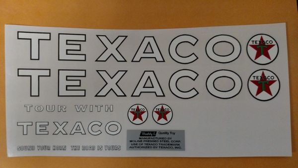 Buddy L Texaco Decals BLTX1 Page 32