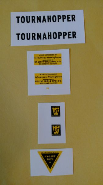 Nylint Tournahopper Decals NYTA Page 83