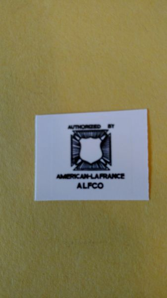 Doepke American LaFrance Decal DPAL Page 78