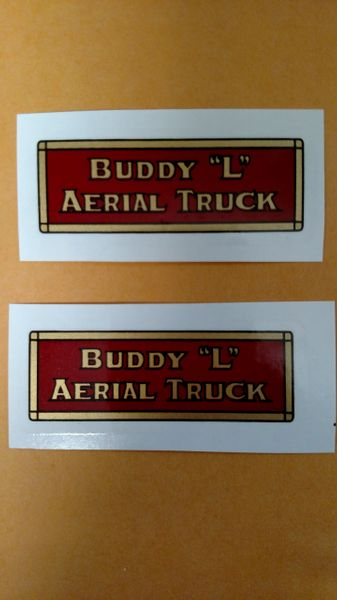 BLAT Aerial Truck Decals Buddy L Page 91