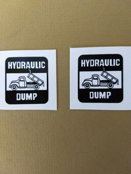 TK160 Hydraulic Decals Tonka