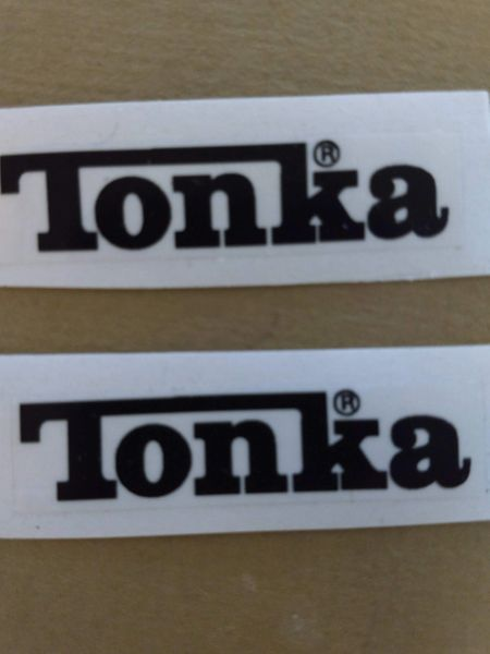 Black Tonka Decals