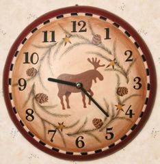 Moose Lodge Wall Clock