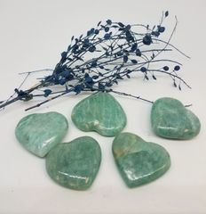 Small Amazonite Hearts
