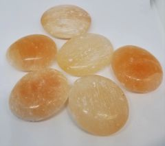 Red Selenite Palm Stones