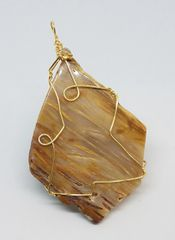 Wire wrapped agate gold