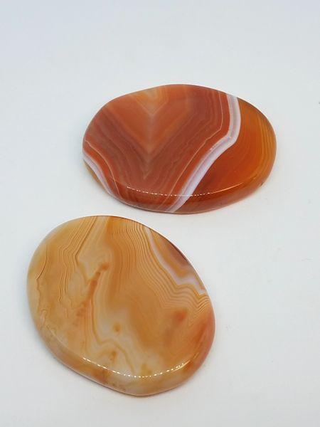 Carnelian Palm Stones - Banded