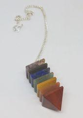 Layered Chakra Pendulum Pyramid