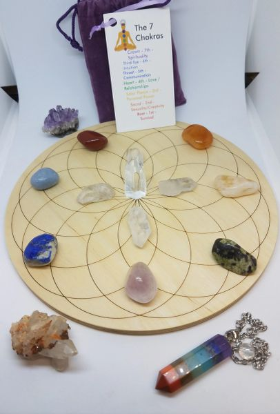 Crystal Grit Kit -Deluxe Chakra