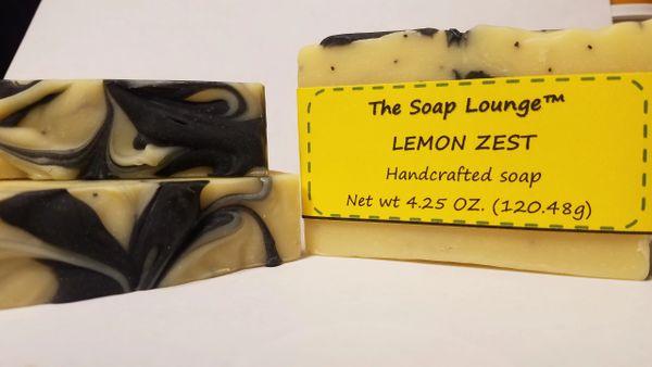 Lemon Zest w/Poppyseed Soap