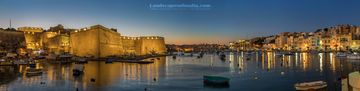 Kalkara at dusk - - Fine art Photography, Landscapes of malta and gozo by Derren Vella. Kalkara