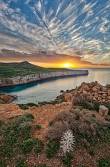 Fomm ir rih bay at sunset - landscapes of malta and gozo by derren vella Fomm ir-rih