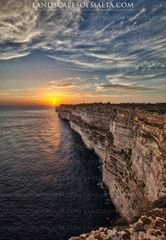 Ta Cenc Cliffs at sunset- Gozo