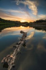 Chadwick Lakes at Sunset by Derren Vella - Malta Landscape Photography at sunsets from Chadwick Lake