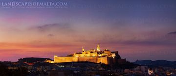 The Citadel, Ic-Citla at dusk, Landscape photography prints of Malta & Gozo by Derren Vella