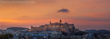 The citadel in Gozo at Sunset - Derren Veandscapes of Gozo 2019