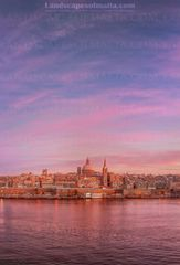 Valletta Sunset.  Derren vella fine art landscapes of malta and Gozo at sunset
