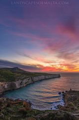Fomm ir rih bay at dusk - Malta landscape photography by Derren Vella at Fomm ir rih