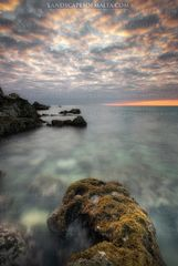 Golden bay malta at sunset. Fine art photography images of malta and Gozo. Landscapes of Malta