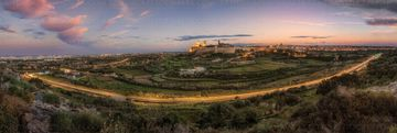 Mdina panorama at dusk -  Panoramas of malta and gozo by Derren Vella