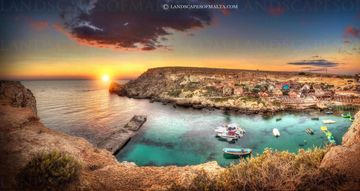 Popeye's village -  Panoramas of malta and gozo by Derren Vella. Popeye village mellieha malta