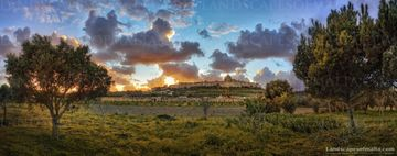 Mdina panorama at sunset - Panoramas of malta and gozo by Derren Vella. Derren vella fine art prints