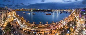 A Panoramic image of sliema at rush hour Fine art prints - Landscapes of Malta & Gozo | Derren Vella