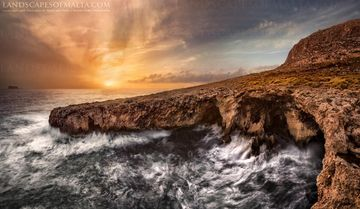 Lapsi sunset - Fine art Photography, Landscapes of malta and gozo by Derren Vella