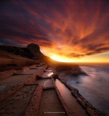 Xwejni Gozo sunset -  Panoramas of malta and gozo by Derren Vella