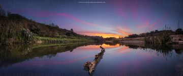 Chadwick lakes at dusk - Fine art Photography,  Panoramas of malta and gozo by Derren Vella