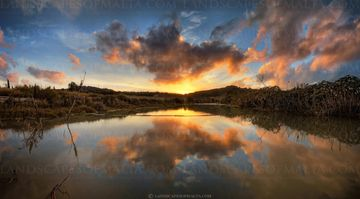 Chadwick Lakes at sunset Fine art Photography, Panoramas of Malta and Gozo by Derren Vella