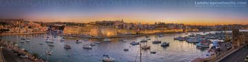 Birgu panorama - Panoramas of malta and gozo by Derren Vella