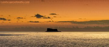 Filfla at Sunset - Fine art Photography, Landscapes of malta and gozo Panoramas of Malta and Gozo