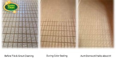 Tile cleaning and grout sealing to remove microorganisms, dirt, grime, and mold.