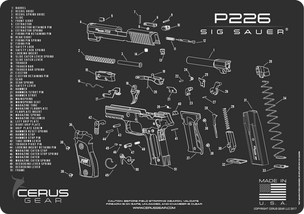 SIG SAUER® P226 SCHEMATIC PROMAT by CERUS GEAR