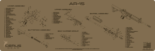 AR-15 SCHEMATIC RIFLE PROMAT by CERUS GEAR