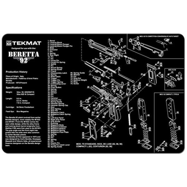BERETTA 92 M9 9mm PISTOL TEKMAT